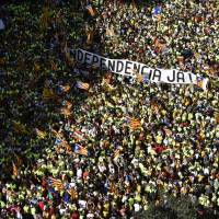 Mass Catalan fete focuses on right to say adios to Spanish rule