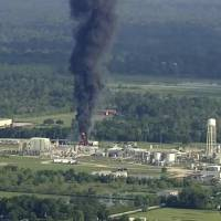 Crippled chemical plant starts controlled burn as power is turned off in west Houston
