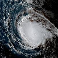 This image obtained from the National Oceanic and Atmospheric Administration shows Hurricane Irma on Monday at 2045 UTC. Irma surged to a dangerous Category 4 storm Monday as it churned toward the Leeward islands, sparking alarm and alerts from the Caribbean to Florida, which declared an emergency. The National Hurricane Center said at 2100GMT that | NOAA/RAMMB / HO / VIA AFP-JIJI