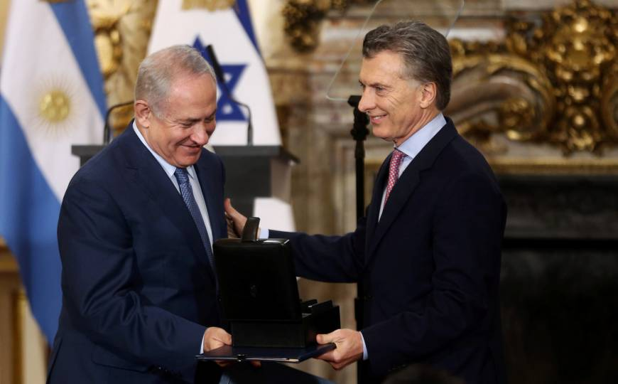 Argentina turns over thousands of WWII-era documents to visiting Netanyahu
