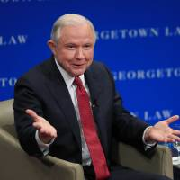 Football players who protest racism have right to free speech but not to disrespect nation: Jeff Sessions