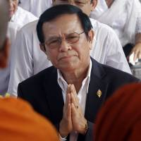 Cambodia arrests opposition leader, alleging treason in collusion with U.S.