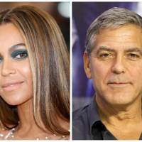 A combination photo shows singer-songwriter Beyonce Knowles in the Manhattan borough of New York in 2016 and actor-producer George Clooney in Toronto in 2015. | REUTERS