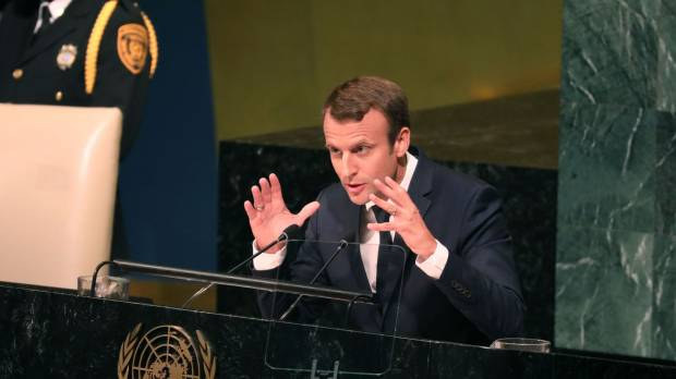 Study in U.N. first-timer contrasts as Trump touts sovereignty, Macron internationalism, Gutteres nuke fears