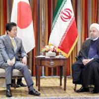 Japan continues to support Iran nuke deal, Abe tells Rouhani on heels of Trump speech