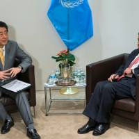 Any U.N. reform must include Security Council revamp, Abe tells Guterres