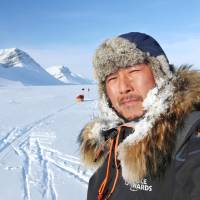 Adventurer Yasunaga Ogita treks in the Arctic in April 2016. | YASUNAGA OGITA / VIA KYODO