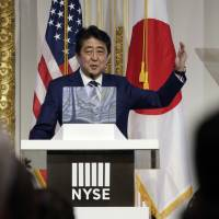 Abe calls for shift of social security benefits to working generation