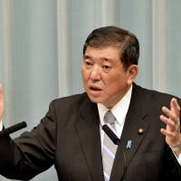 Former Defense Minister Shigeru Ishiba has called for a more radical  change to Article 9. | YOSHIAKI MIURA