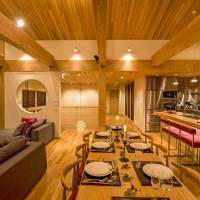 A luxury family chalet in Hirafu, Hokkaido, listed on the Airbnb site is one of many minpaku private lodgings offered in an area popular with tourists. | AIRBNB INC.