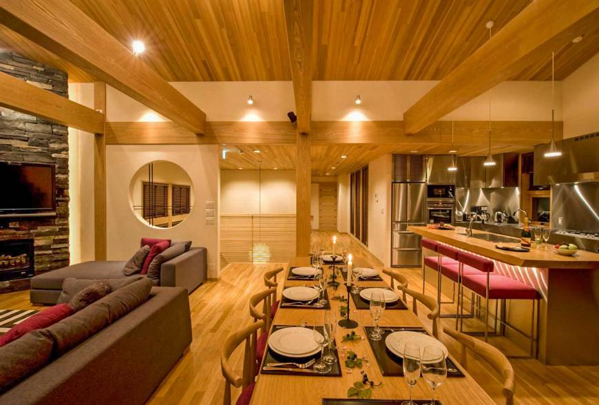 A luxury family chalet in Hirafu, Hokkaido, listed on the Airbnb site is one of many minpaku private lodgings offered in an area popular with tourists.