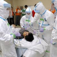Two-day nuclear disaster drill kicks off at Genkai plant in Saga