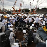 With just over two years to go, work at Tokyo stadium site proceeding at full tilt pace