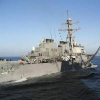 Japan refuels U.S. missile defense ships under new security laws