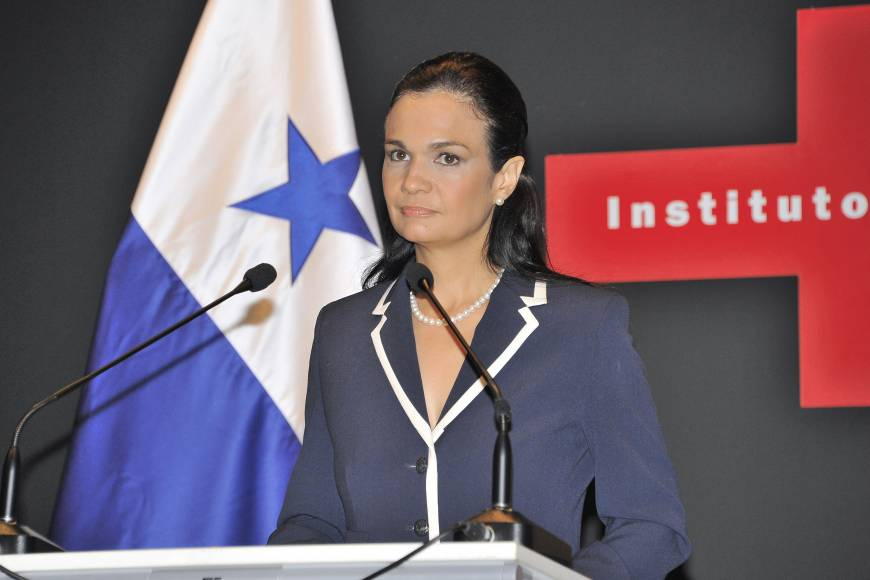 Panama Vice President and Foreign Minister Isabel de Saint Malo de Alvarado speaks at a seminar titled