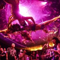 In it for the long haul: Productions such as 'Fuerza Bruta Wa!' are extending their runs in an effort to attract overseas tourists. | © KEIKO TANABE