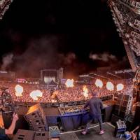Fire and beats: Tiesto performs on the final day of the Ultra Japan music festival in Tokyo. | © ULTRA JAPAN 2017