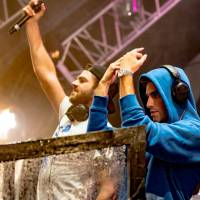 Hands in the air: The Chainsmokers' highly anticipated set at Ultra Japan came as Typhoon Talim passed to Tokyo's north. | © ULTRA JAPAN 2017