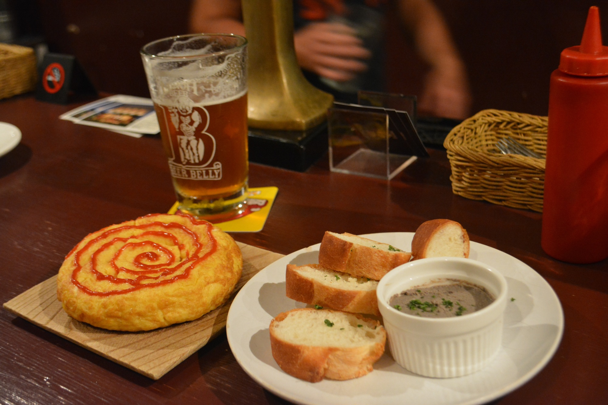 Tapas selection: Spanish omelet and liver pate at Minoh's Beer Belly. | J.J. O'DONOGHUE