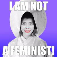 Hear me roar: Mai Endo follows her 2015 work 'I Am Feminist' with the eye-catching title of 'I Am Not a Feminist!'