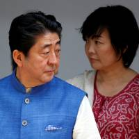 Could do better: Prime Minister Shinzo Abe and his wife, Akie, visit Gandhi Ashram in Ahmedabad, India, on Wednesday. | REUTERS