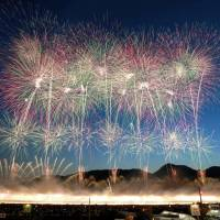 Akita's Omagari fireworks competition held after heavy rain