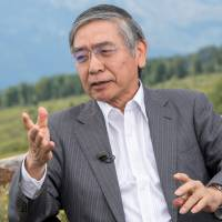 Bank of Japan Gov. Haruhiko Kuroda will face a tough decision on when to unwind stimulus. | BLOOMBERG