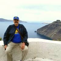 Tom Meschery vactations on the Greek island of Santorini in May. | MELANIE MARCHANT MESCHERY