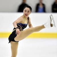Wakaba Higuchi delivered an impressive performance en route to a second-place finish at the Lombardia Trophy in Bergamo, Italy, last weekend. | KYODO