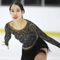 Mai Mihara, who finished fifth at the world championships last season, took second place at the Autumn International Classic in Montreal on Saturday. | KYODO
