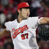 Carp youngster Nakamura silences Giants with seven shutout innings