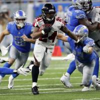 Late ruling favors Falcons in victory over Lions