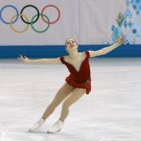 American Gracie Gold, seen here during the Sochi Olympics, is taking a break from skating to seek professional help. | AP