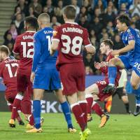 Okazaki helps Leicester oust Liverpool from League Cup
