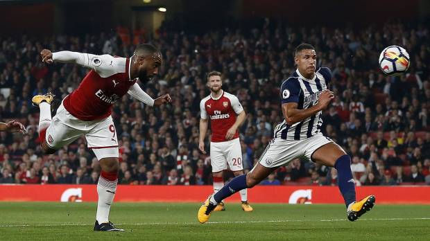 Lacazette strikes twice as Arsenal beats West Brom