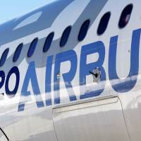 An Airbus A320neo aircraft is pictured during a news conference to announce a partnership between Airbus and Bombardier on the C Series aircraft program, in Colomiers near Toulouse, France, Tuesday. | REUTERS