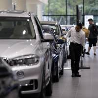 Sales of new imported foreign-brand cars, trucks and buses in Japan increased 1.7 percent in the first half of fiscal 2017 from a year earlier to 147,261 units, according to industry data. | BLOOMBERG