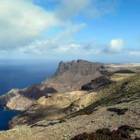 This 2015 photo shows the edge of the runway of the future airport on the island of Saint Helena currently under construction in Jamestown. | AFP-JIJI