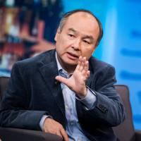 Masayoshi Son, chairman and chief executive officer of SoftBank Group Corp. speaks during an interview on 'The David Rubenstein Show' in New York in mid-September. | BLOOMBERG