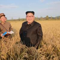 North Korean leader Kim Jong Un visits a Farm No. 1116 of KPA Unit 810 in this Friday photo released by North Korea's Korean Central News Agency (KCNA) in Pyongyang. | KCNA / VIA REUTERS