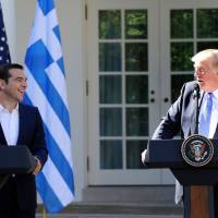 Trump hails Greece's economic revival at White House meeting with once-critical Athens leader