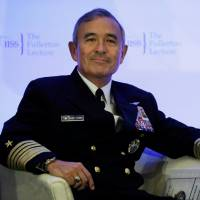 U.S. Pacific Command chief Adm. Harry Harris attends the Fullerton Lecture on 'Challenges, Opportunities and Innovation in the Indo-Asia-Pacific' in Singapore on Tuesday. | REUTERS