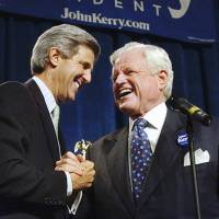 John Kerry named first recipient of award from Edward Kennedy Institute
