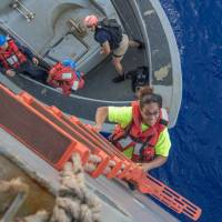 U.S. Navy rescues Hawaii women and dogs adrift aboard sloop in Pacific since May