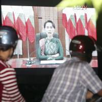 Myanmar's embattled Suu Kyi urges unity, forms Rakhine aid panel but makes no direct mention of Rohingya