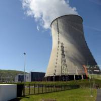 A nuclear power plant in Chooz, northern France, is seen in May. A report released Tuesday by experts of Greenpeace warns against the vulnerability of French an Belgian nuclear plants in case of attacks or malicious acts. | AFP-JIJI