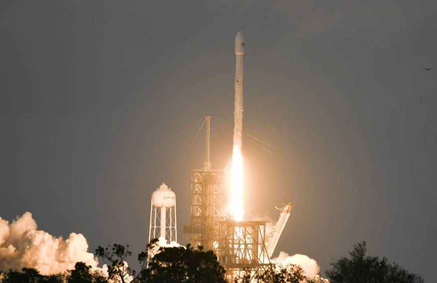 SpaceX launches communications satellite, lands booster
