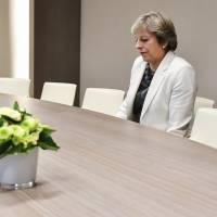 Theresa May's 'lonely' Brexit photo goes viral