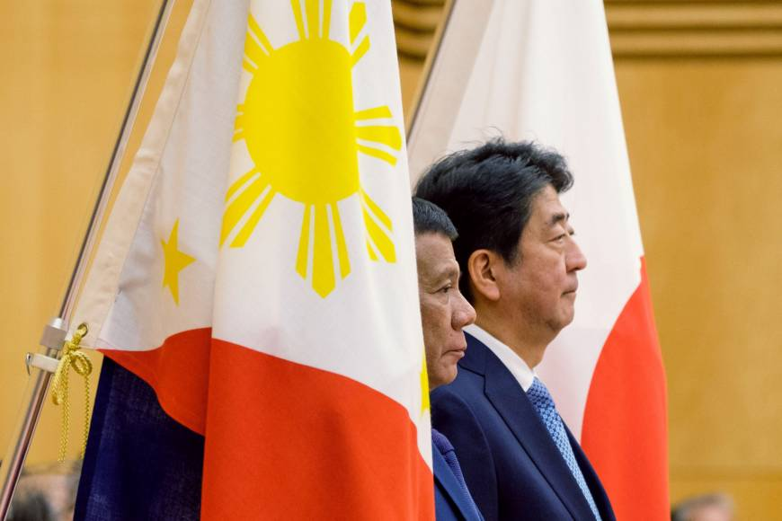 Abe confirms ¥1 trillion aid package with Duterte as Tokyo races Beijing for Manila's support
