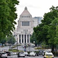 The Diet building is seen in Tokyo's Nagatacho district. The scandal involving Diet member Mayuko Toyota over her alleged abuse of her secretary has put a spotlight on the work of Diet secretaries. | SATOKO KAWASAKI